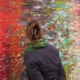 """Image: """"Gerhard Richter. Ausschnitt"""" im Neuen Museum Nürnberg"""