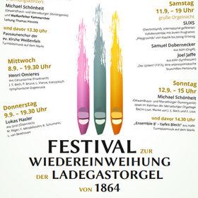 Image: Festival zur Wiedereinweihung der Ladegastorgel von 1864