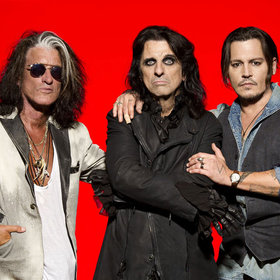 Bild: Hollywood Vampires - Johnny Depp, Alice Cooper, Joe Perry