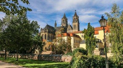 Garten der Möllenvogtei am Magdeburger Dom